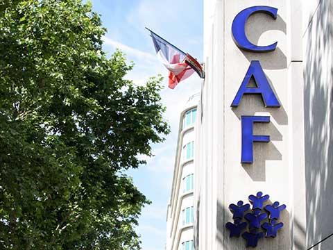 Façade d'un immeuble de la CAF